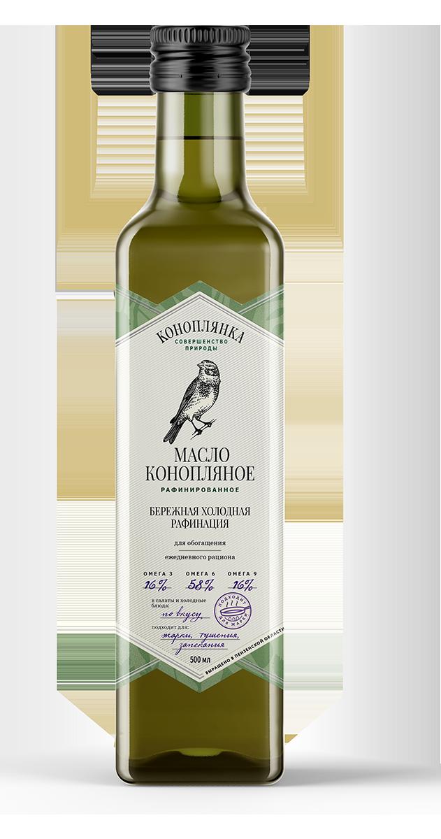 Refined hemp oil 500 ml