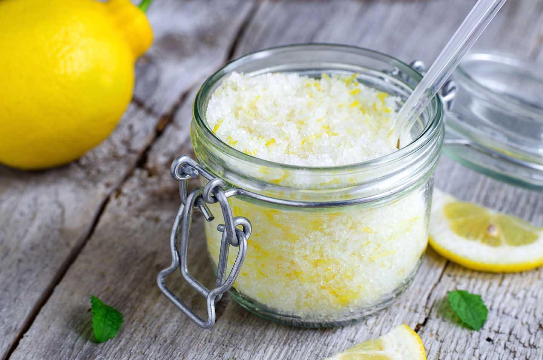 Скраб для тела: с морской солью и соком лимона