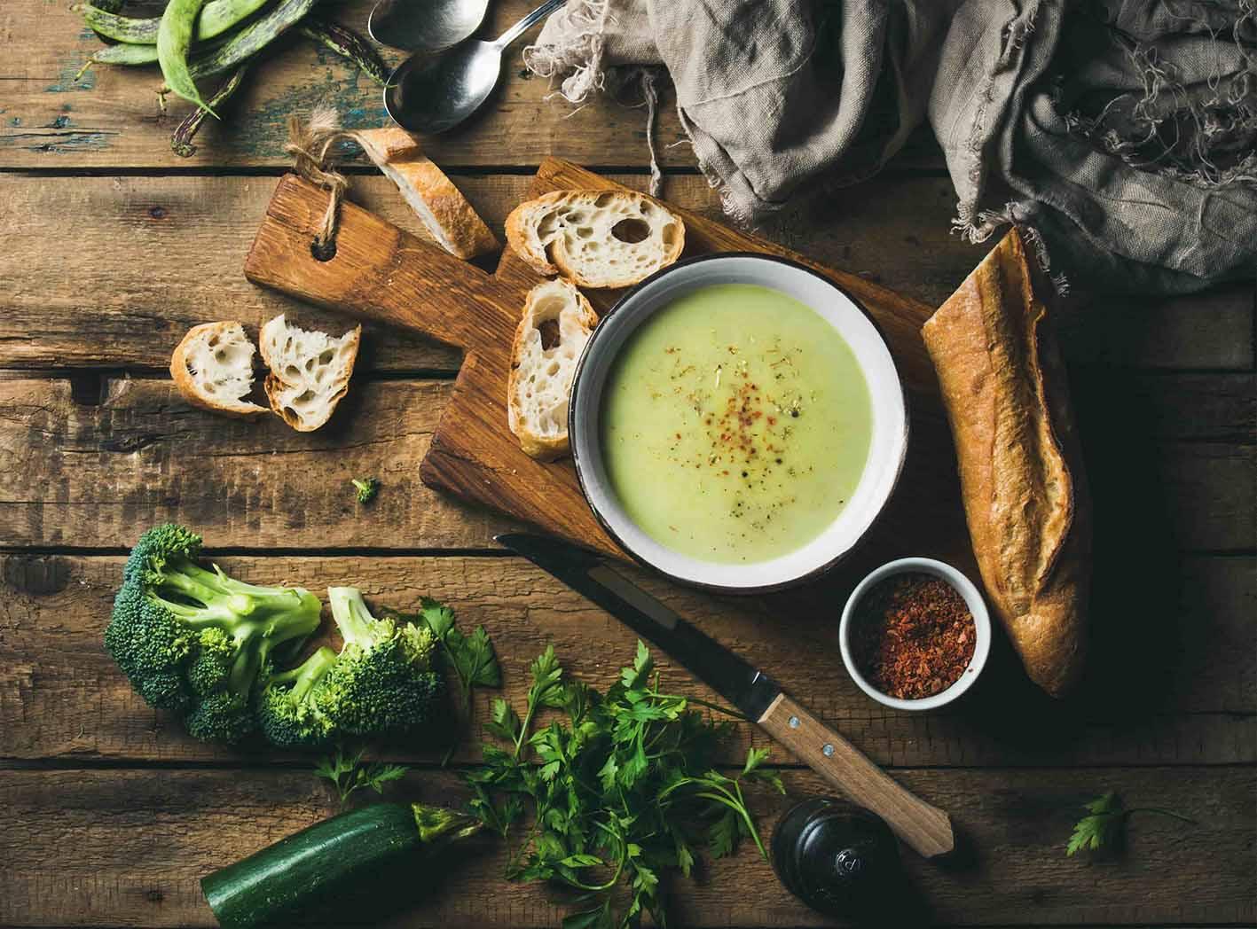 Овощной крем- суп с конопляным маслом